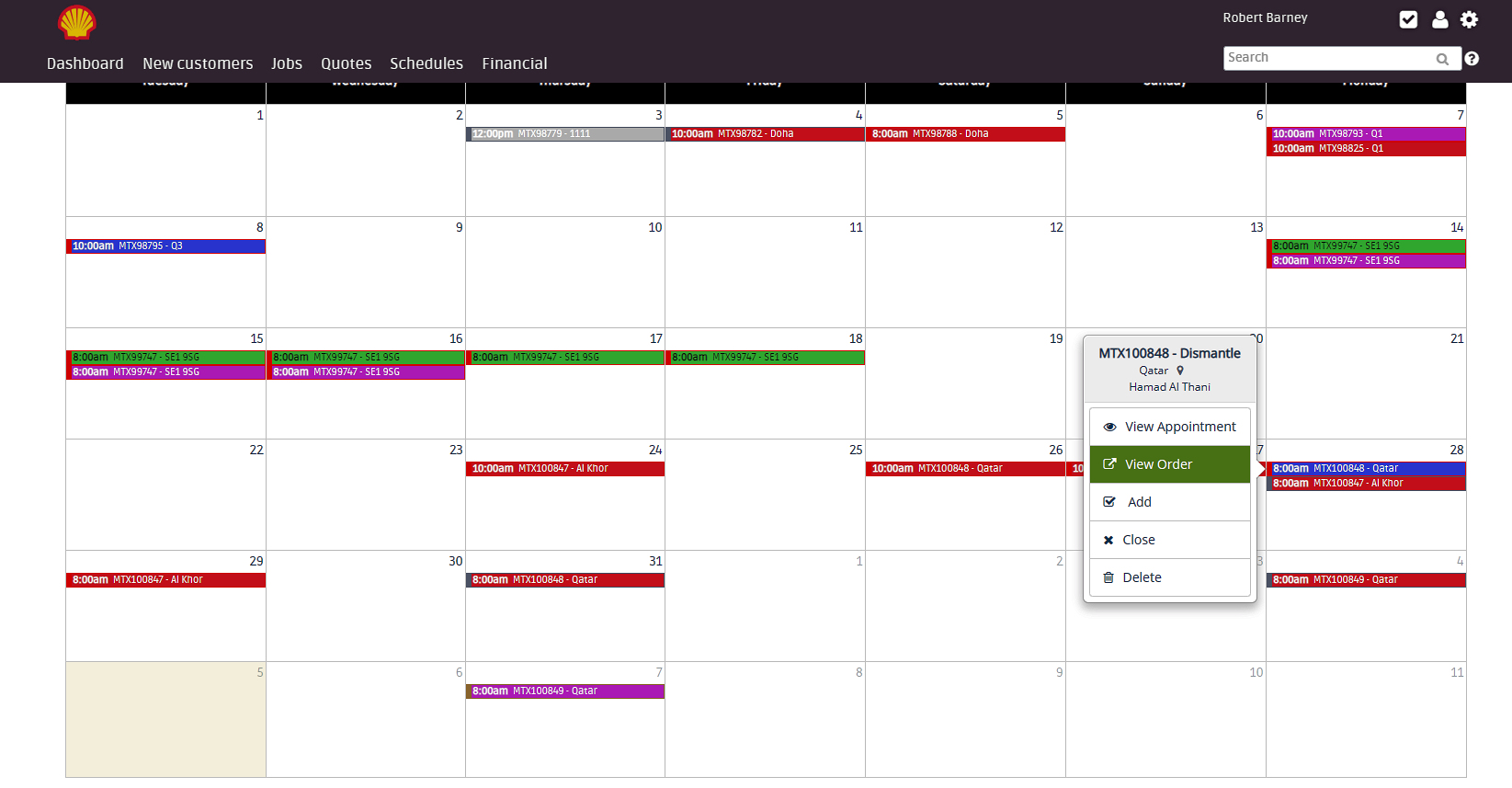 One month schedule on Flobot
