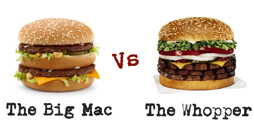 Big mac v whopper