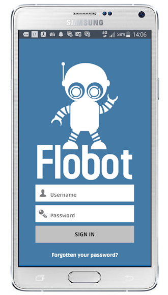 Flobot Field app sign-in screen