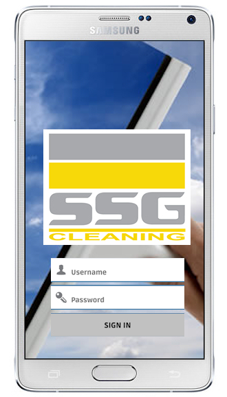 A generic cleaning app login